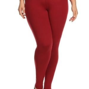 Pants - NWT Plus Size Burgundy High Waist Legging